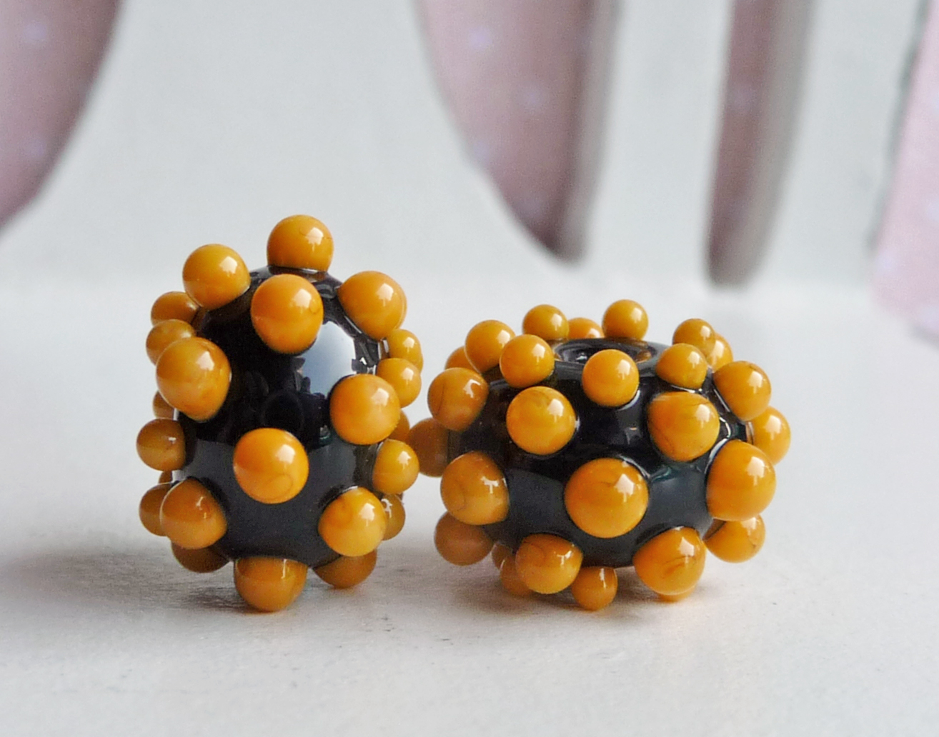 Full Moon Yellow Bumpy Beads